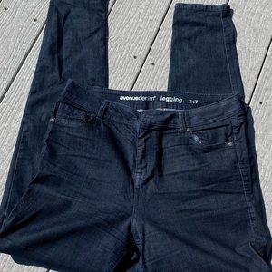 Denim leggings worn once